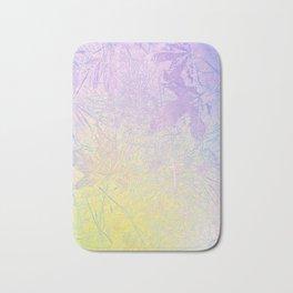 Golden Fall Watercolor Leaf Impressions Bath Mat