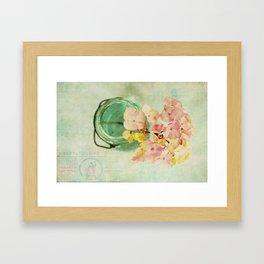 French Vintage Hydrangea Framed Art Print