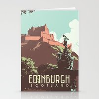 edinburgh Stationery Cards featuring Edinburgh by bonggg