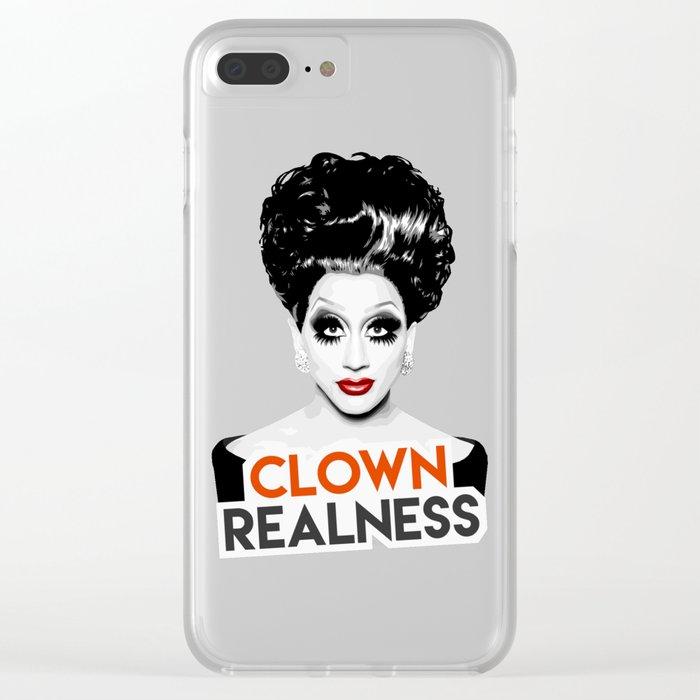 """Clown Realness"" Bianca Del Rio, RuPaul's Drag Race Queen Clear iPhone Case"