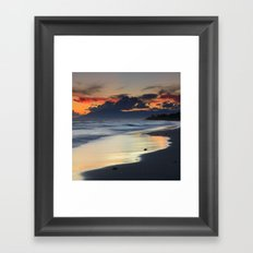 Magic red clouds. Sea dreams Framed Art Print