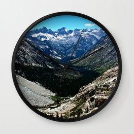 Sierra Nevada Mountain Landscape Wall Clock