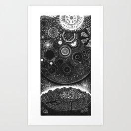 Infiniteness Woodcut Art Print