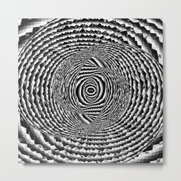 Abstract Spiral Galaxy Metal Print