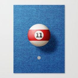 BALLS / Pool Billiard (eleven) Canvas Print