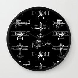 Biplanes // Black Wall Clock
