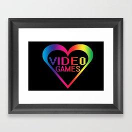 love video games Framed Art Print