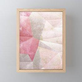 Frozen Geometry - Blush & Champagne #abstractart Framed Mini Art Print