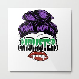 Momster Halloween Scary Monster Mom Metal Print
