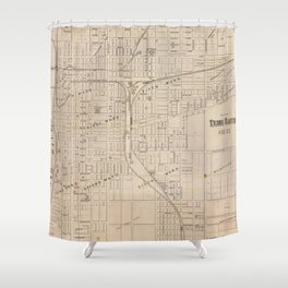 Vintage Map of Terre Haute Indiana (1876) Shower Curtain