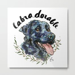 Labradorable - #adoptdontshop Metal Print