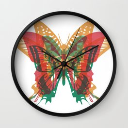 Butterfly Rorschach, Ya Know, For Kids! Wall Clock