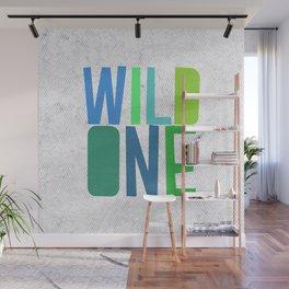 Wild One Green&Blue Wall Mural