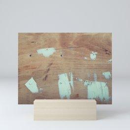 Wooded shipboard repairing Mini Art Print