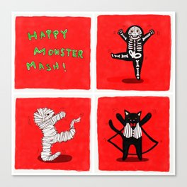 Happy Monster Mash! Canvas Print
