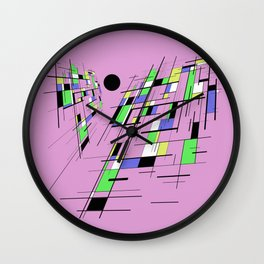 Bad perspective - Abstract, vector, geometric, 3D style artwork Wall Clock