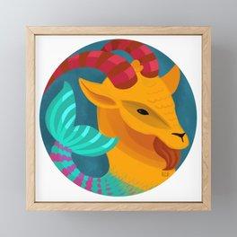 Capricorn Framed Mini Art Print