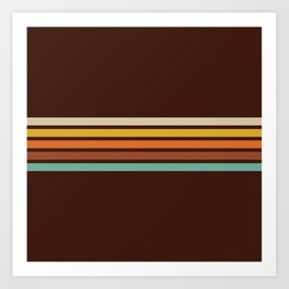 Motokiyo - Classic Retro Stripes Art Print