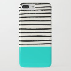 Aqua & Stripes Slim Case iPhone 7 Plus