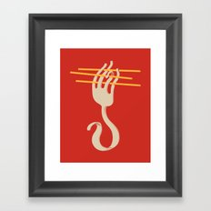 Fork & Pasta Framed Art Print