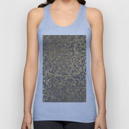 Faux gold foil abstract geometric on grey concrete cement Unisex Tank Top