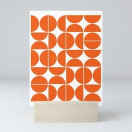 Mid Century Modern Geometric 04 Orange Mini Art Print