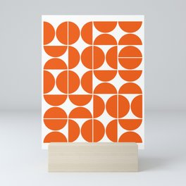Mid Century Modern Geometric 04 Orange Mini Art Print