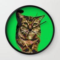 will ferrell Wall Clocks featuring Ferrell by gretzky