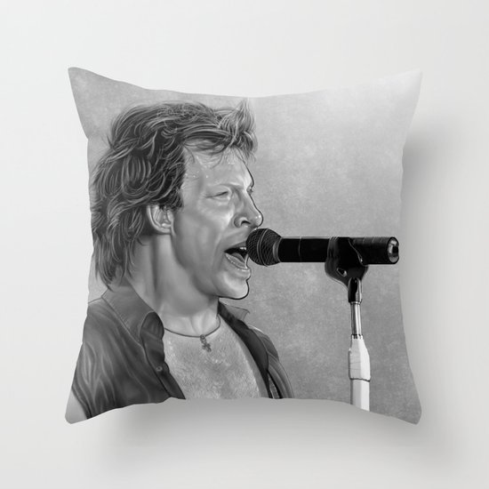 Jon Bon Jovi      Throw Pillow