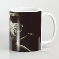 woman Mugs featuring abyss of the disheartened VII by Heather Landis