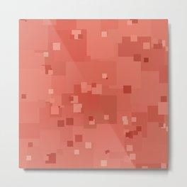 Desert Flower Square Pixel Color Accent Metal Print