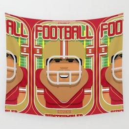 American Football Red and Gold - Enzone Puntfumbler - Seba version Wall Tapestry