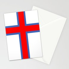 faroe islands country flag Stationery Cards