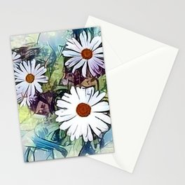 Mistical flowers in the garden Stationery Cards