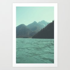 Desolation is beyond the horizon - Diablo Lake Art Print