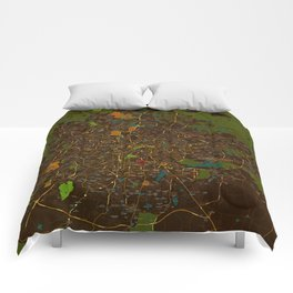 Bangalore old green map Comforters