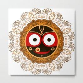Jagannath. Indian God of the Universe. Lord Jagannatha. Metal Print