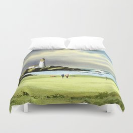 Turnberry Golf Course 10th Green Duvet Cover