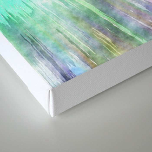 Colorful Tie Dye Watercolor Canvas Print