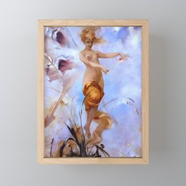 "Luis Ricardo Falero ""Nymph"" Framed Mini Art Print"