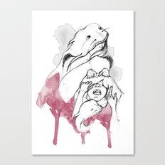 Half pet Canvas Print