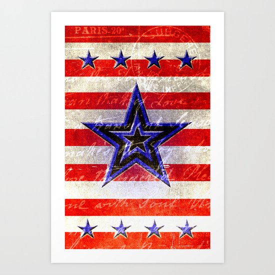 Worn America Art Print