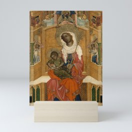 Unknown Artist (Bohemian) - Mary Enthroned with the Child (Glatz Madonna) (1350) Mini Art Print