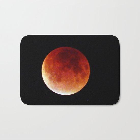 Super Moon Eclipse 2015 (Blood Moon) Bath Mat