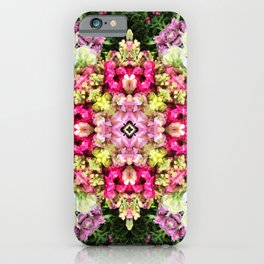 Floral gathering holistic inspirational Mandala iPhone Case