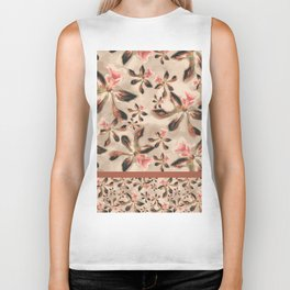 Watercolor Orchids - Pattern Biker Tank
