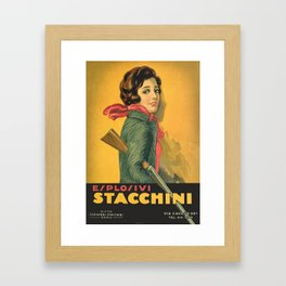 The Explosive Girl - 1929 Framed Art Print