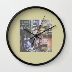 I Like to Be Alone Wall Clock