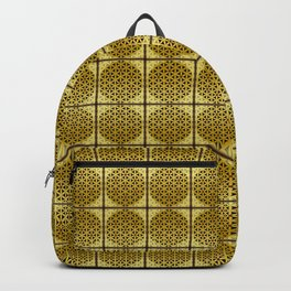 LEO Flower of Life Astrology Repeat Pattern Backpack