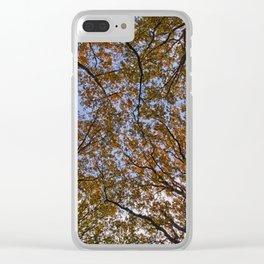Autumn Canopy Clear iPhone Case
